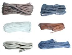 120cm BRITISH QUALITY Thin Round Shoe Laces  choice of colours